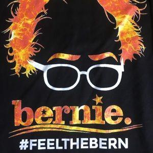 Shirts - Mens T Shirt Bernie Sanders Feel the Bern Black